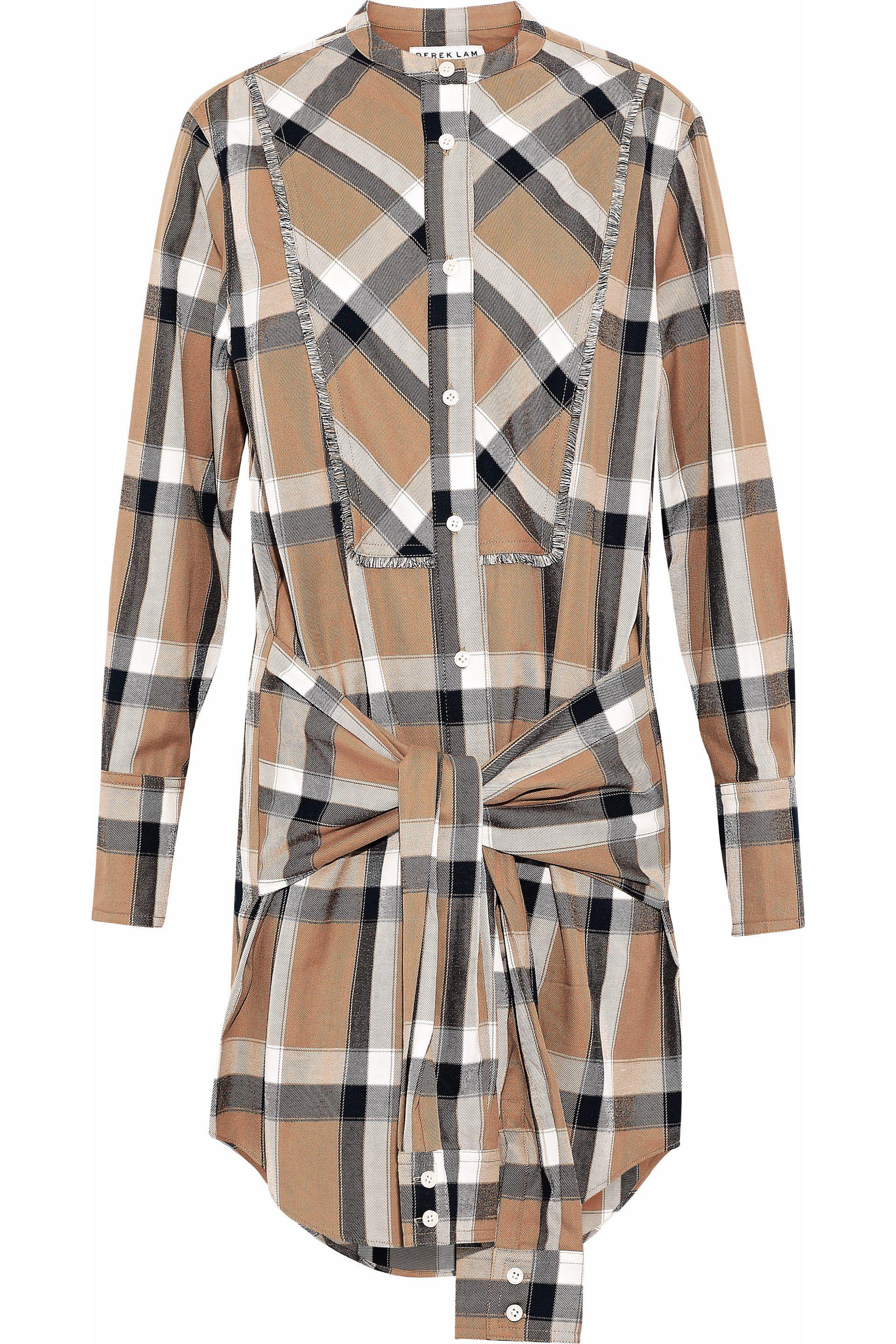 Buy Cheap Visa Payment For Nice Cheap Online Derek Lam 10 Crosby Woman Gathered Checked Flannel Shirt Dress Black Size 00 Derek Lam WLZaX7
