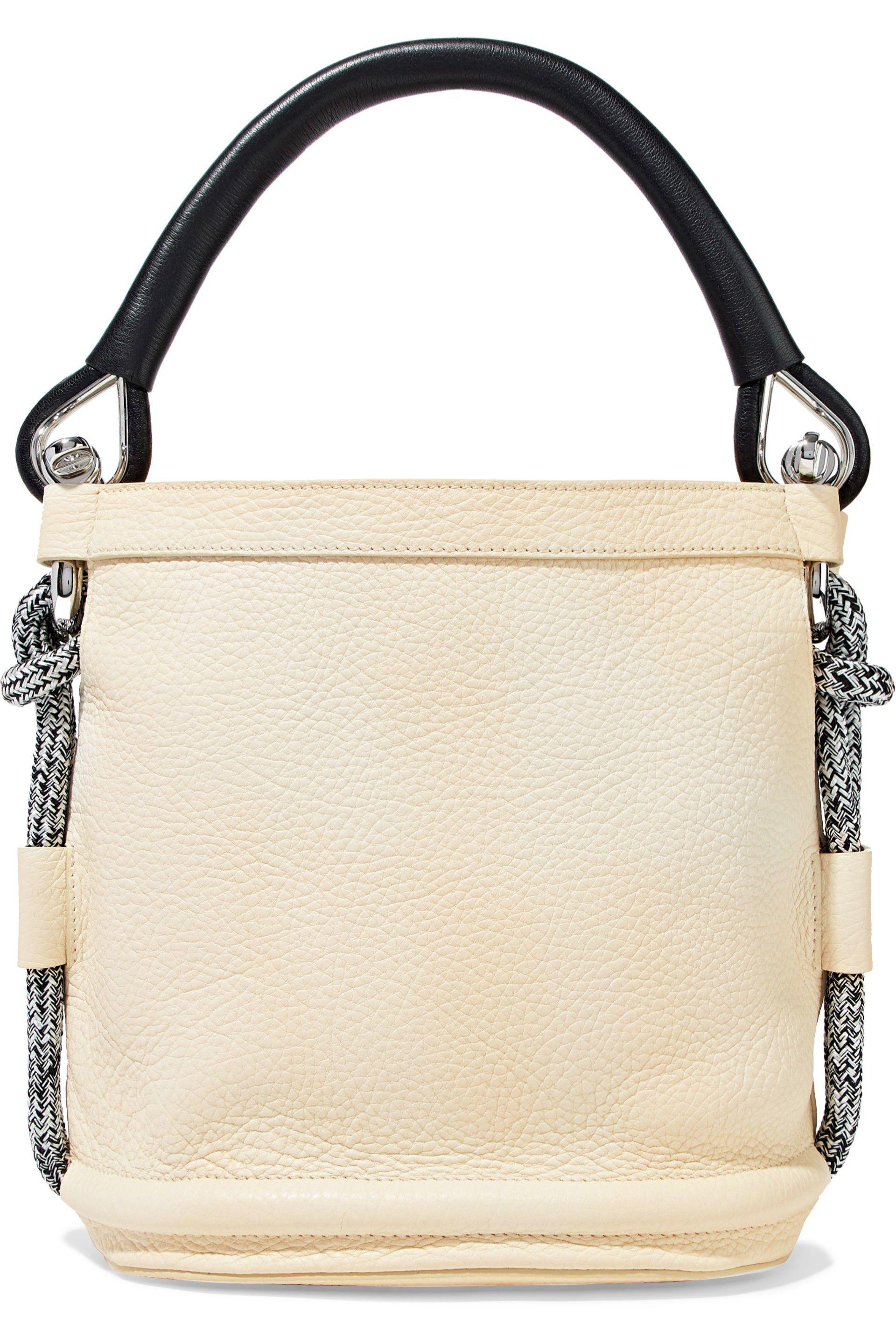 78007fde1889 Acne Studios Bertha Two-tone Textured-leather Bucket Bag in White - Lyst