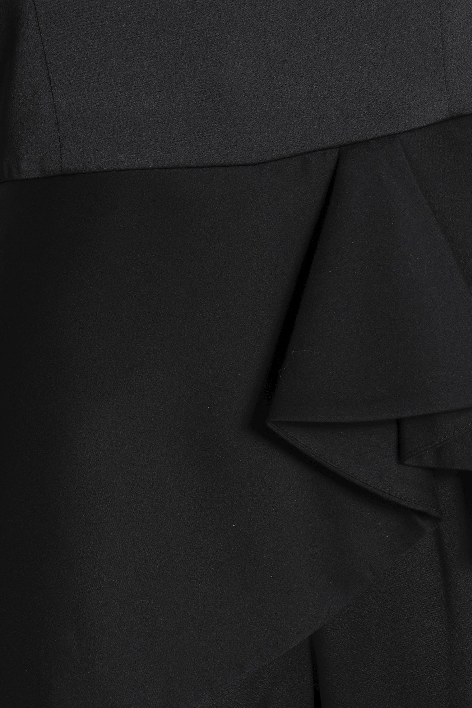 4835eb38f82c Lyst - Halston Woman Strapless Satin Peplum Jumpsuit Black in Black ...