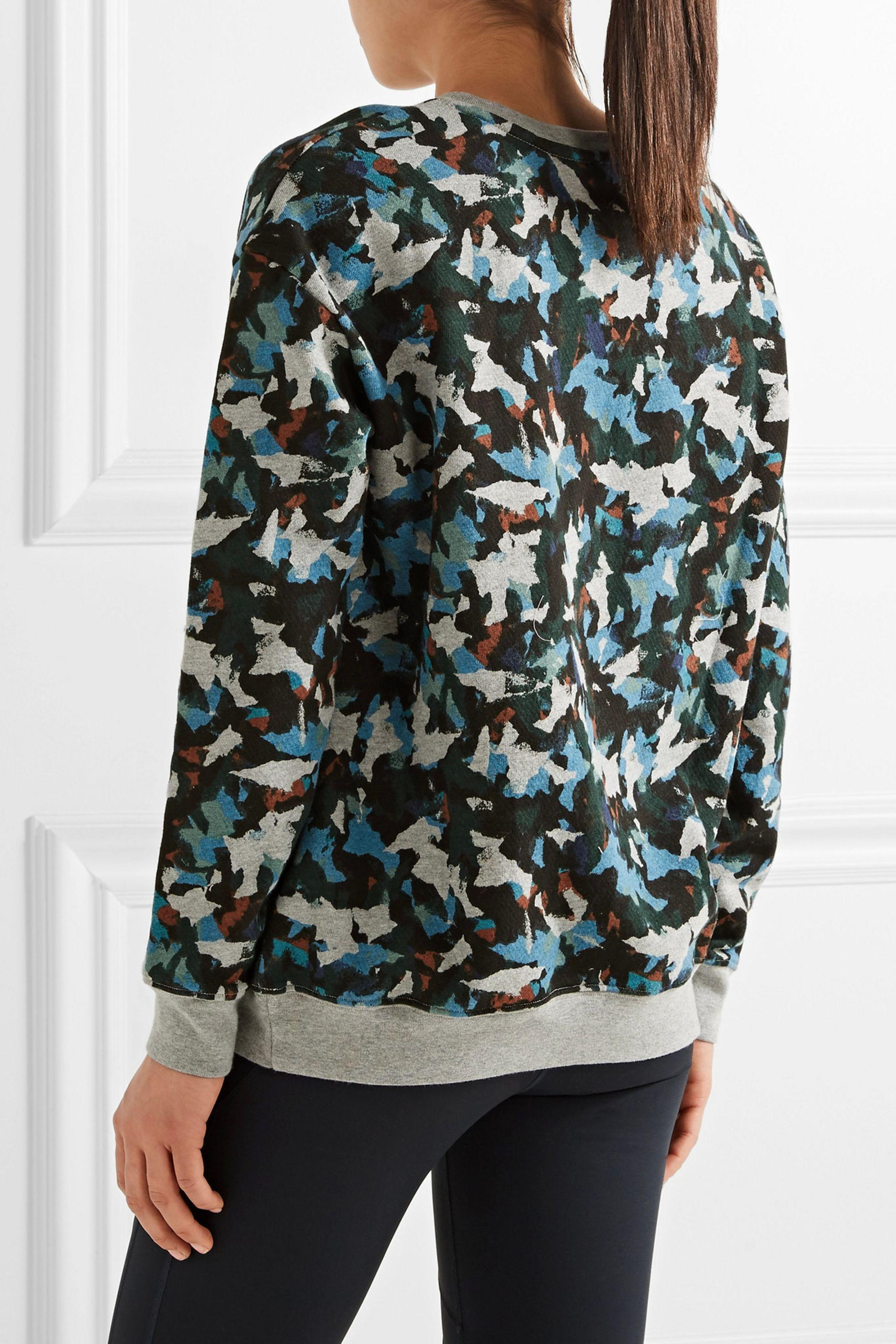 The Upside | Gray Masquerade Flocked Printed Cotton-fleece Sweatshirt |  Lyst. View Fullscreen