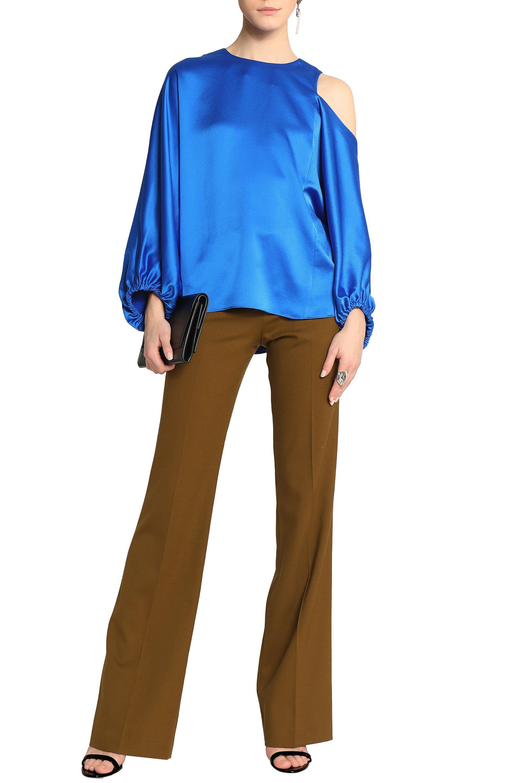 Tibi Woman Celestia Cutout Satin Top Bright Blue Size L Tibi Fast Delivery Online nxBahJsJ