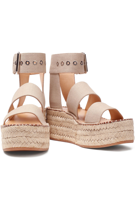 7e10b0a17fe6 Rag   Bone Tara Canvas Espadrille Platform Sandals in Natural - Lyst