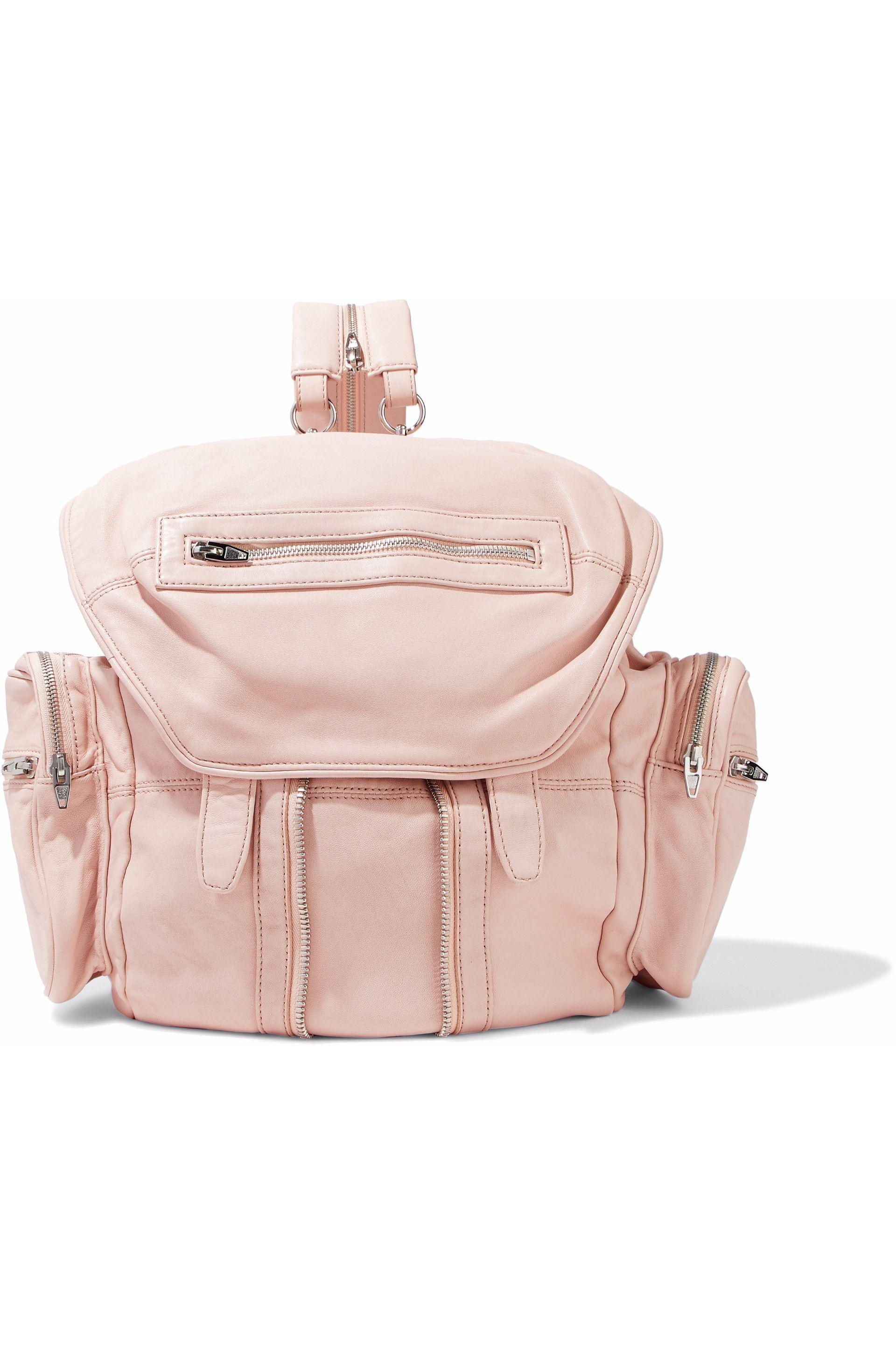 d65179177a8859 Pastel Pink Leather Backpack- Fenix Toulouse Handball