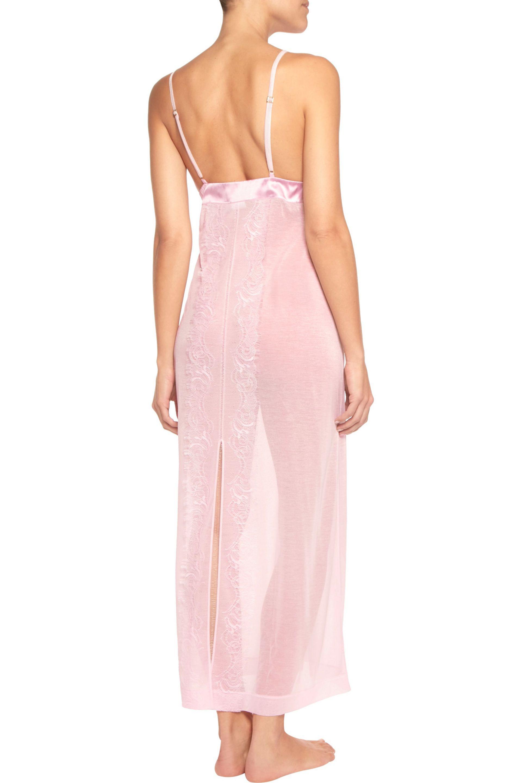 La Perla | Merveille Lace-trimmed Modal-blend Nightdress Baby Pink | Lyst.  View Fullscreen