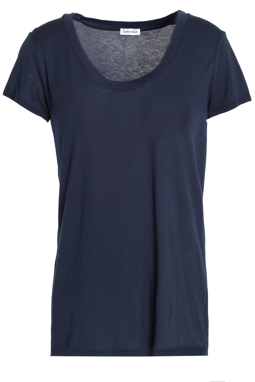 Splendid Woman Slub Modal-blend Jersey T-shirt Army Green Size L Splendid Cheap Low Cost vVh3e9