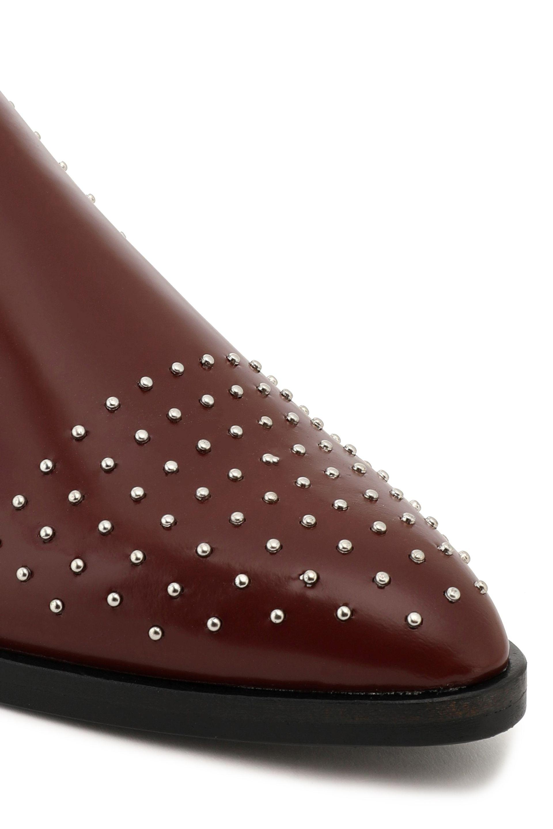 Sigerson Morrison Woman Studded Patent Leather Slippers