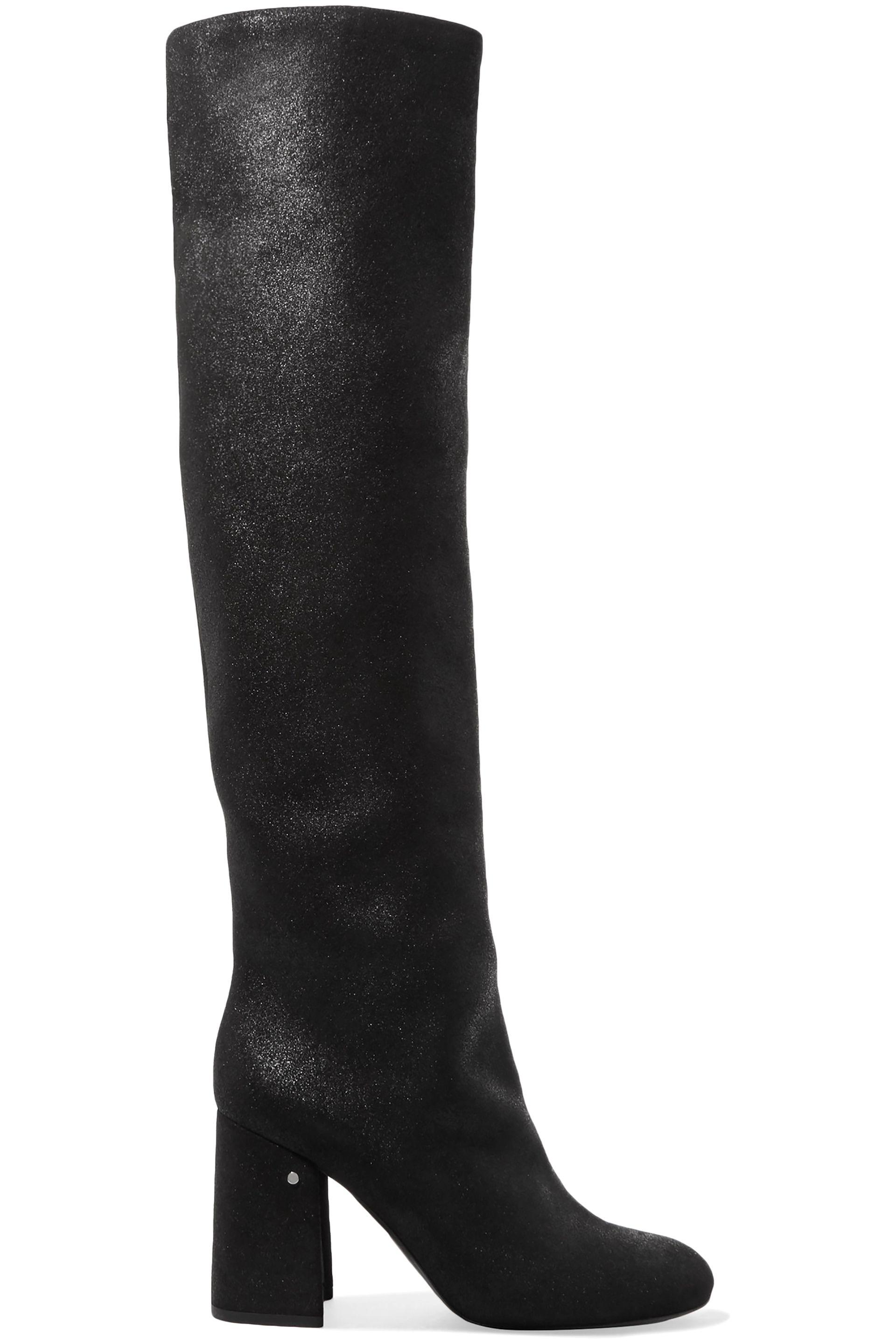3cdc1314133 Lyst - Laurence Dacade Woman Parveen Coated-suede Knee Boots Black ...