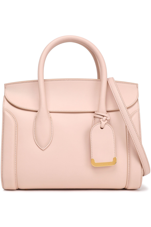 50261ab87708 Alexander McQueen Woman Heroine 30 Leather Shoulder Bag Pastel Pink ...