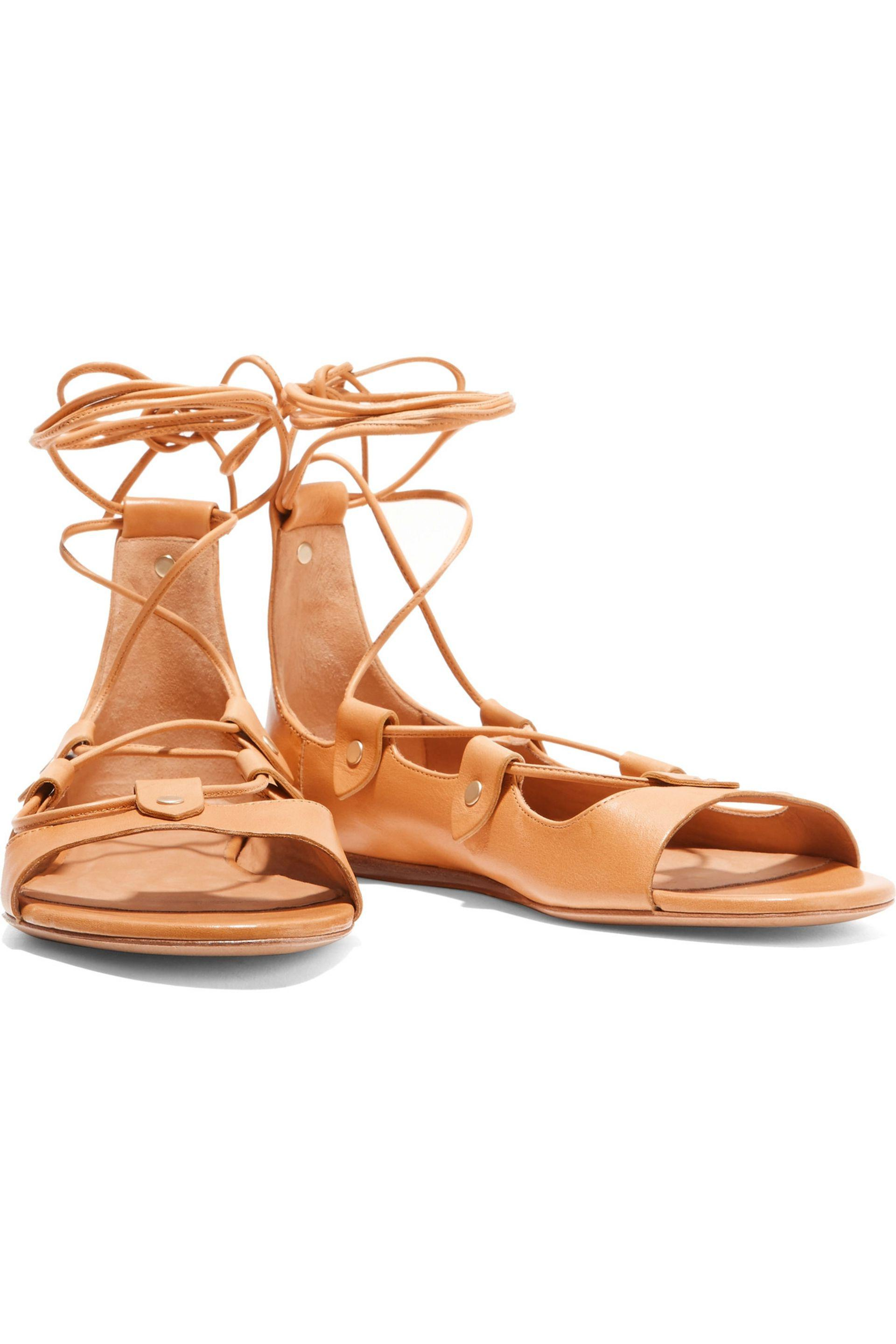 Isabel Marant   Multicolor Alisa Lace-up Leather Sandals   Lyst. View  Fullscreen