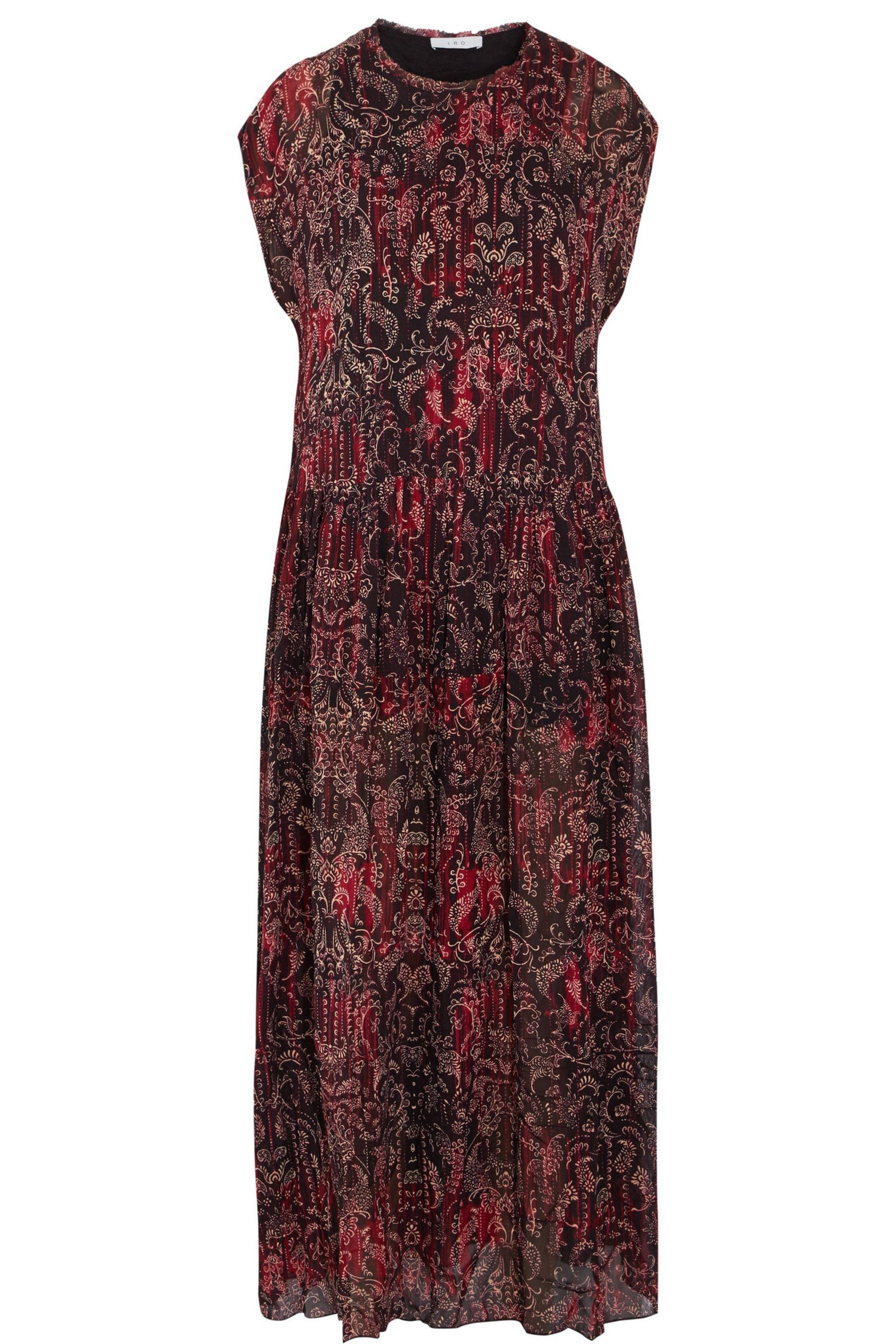 Iro Woman Printed Faille Maxi Dress Crimson Size 36 Iro New Styles Latest Pnvlypn4FB
