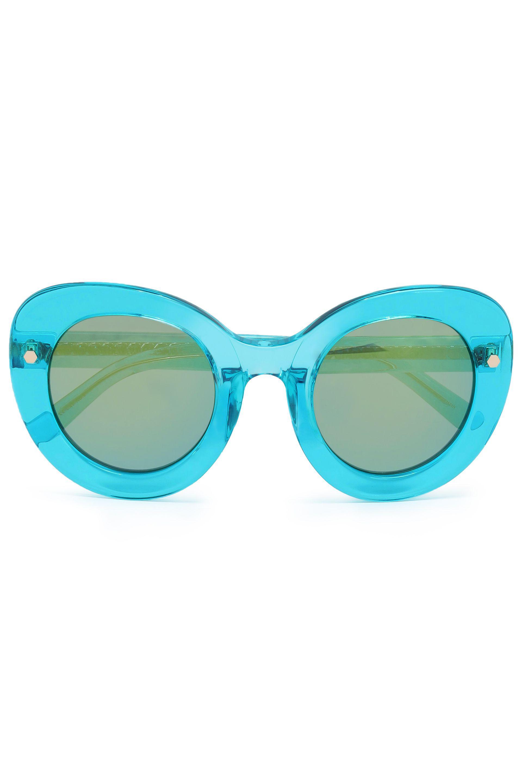 Matthew Williamson Woman Embellished Butterfly-frame Acetate Sunglasses Pastel Pink Size Matthew Williamson kyQ2ks98h