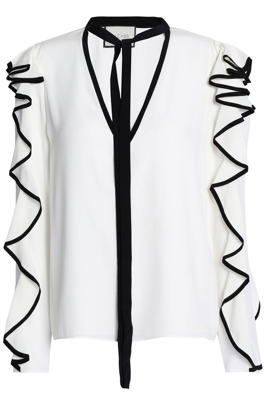 Alexis Woman Gathered Silk Crepe De Chine Blouse White Size L Alexis Cheap Amazon NUJtyM