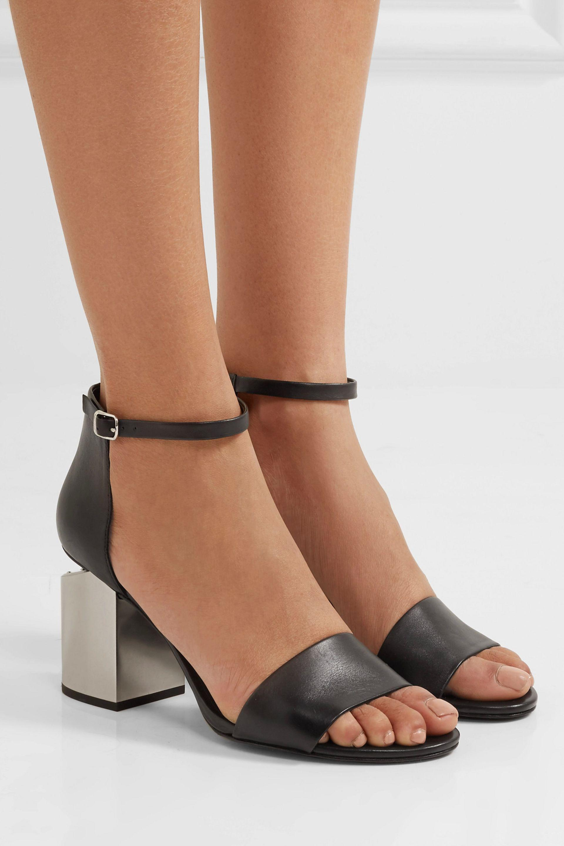 f8503fb49d23 Alexander Wang Abby Leather Sandals in Black - Lyst