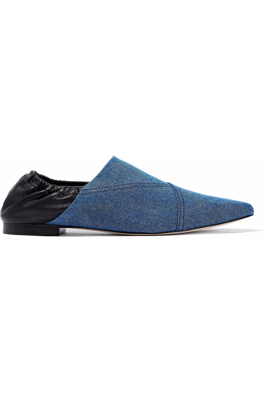 3.1 Phillip Lim. Women's Blue Pointed-toe Flats Mid Denim