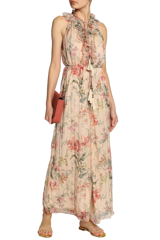 612de9d5b0 Lyst - Zimmermann Woman Ruffle-trimmed Floral-print Silk-georgette ...
