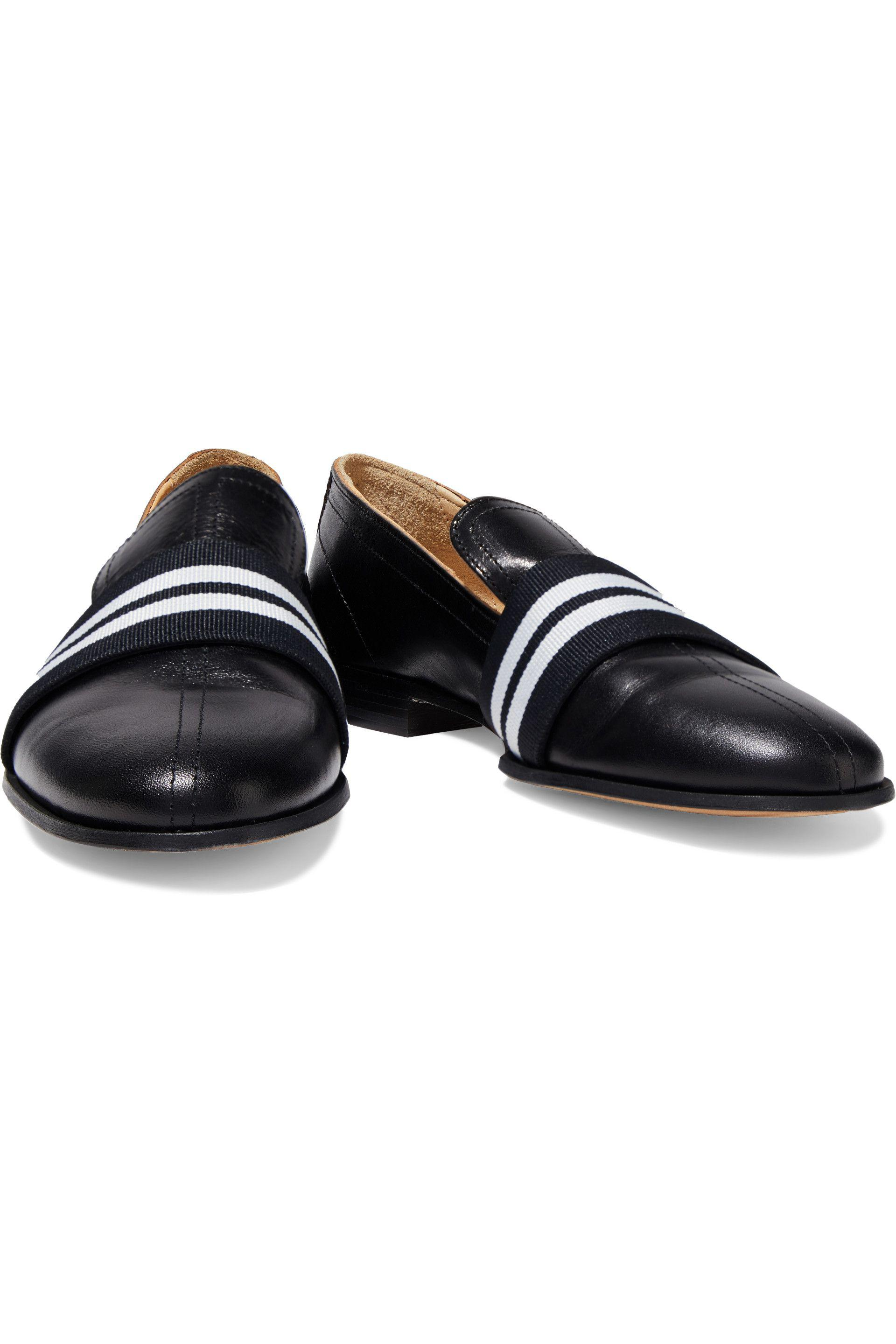 f82a75ccc7 Lyst - Rag & Bone Grosgrain-trimmed Leather Loafers in Black