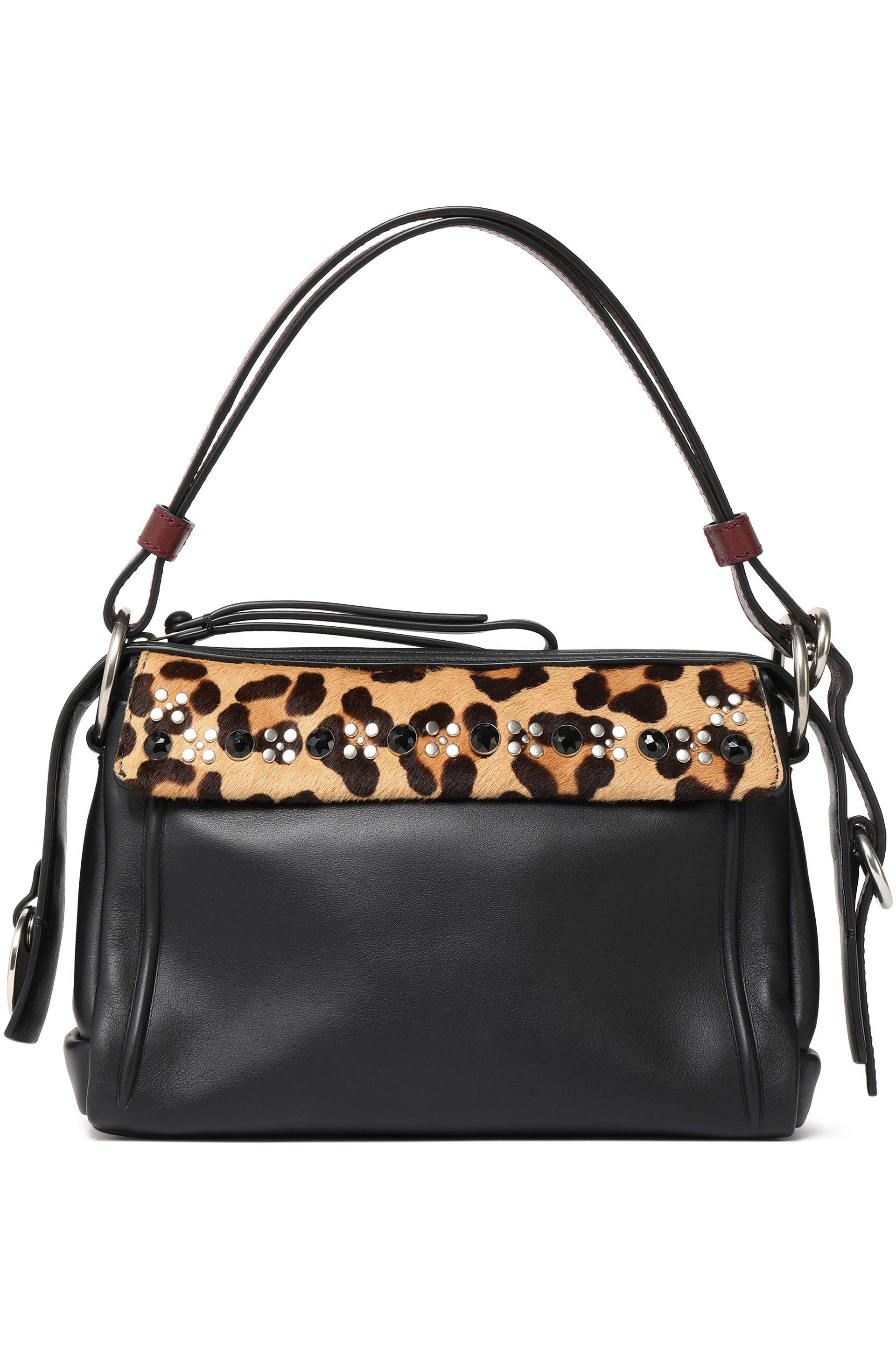 Marc By Marc Jacobs Woman Embellished Leopard-print Calf Hair And Leather Pouch Animal Print Size Marc Jacobs FxtcqUNIhn