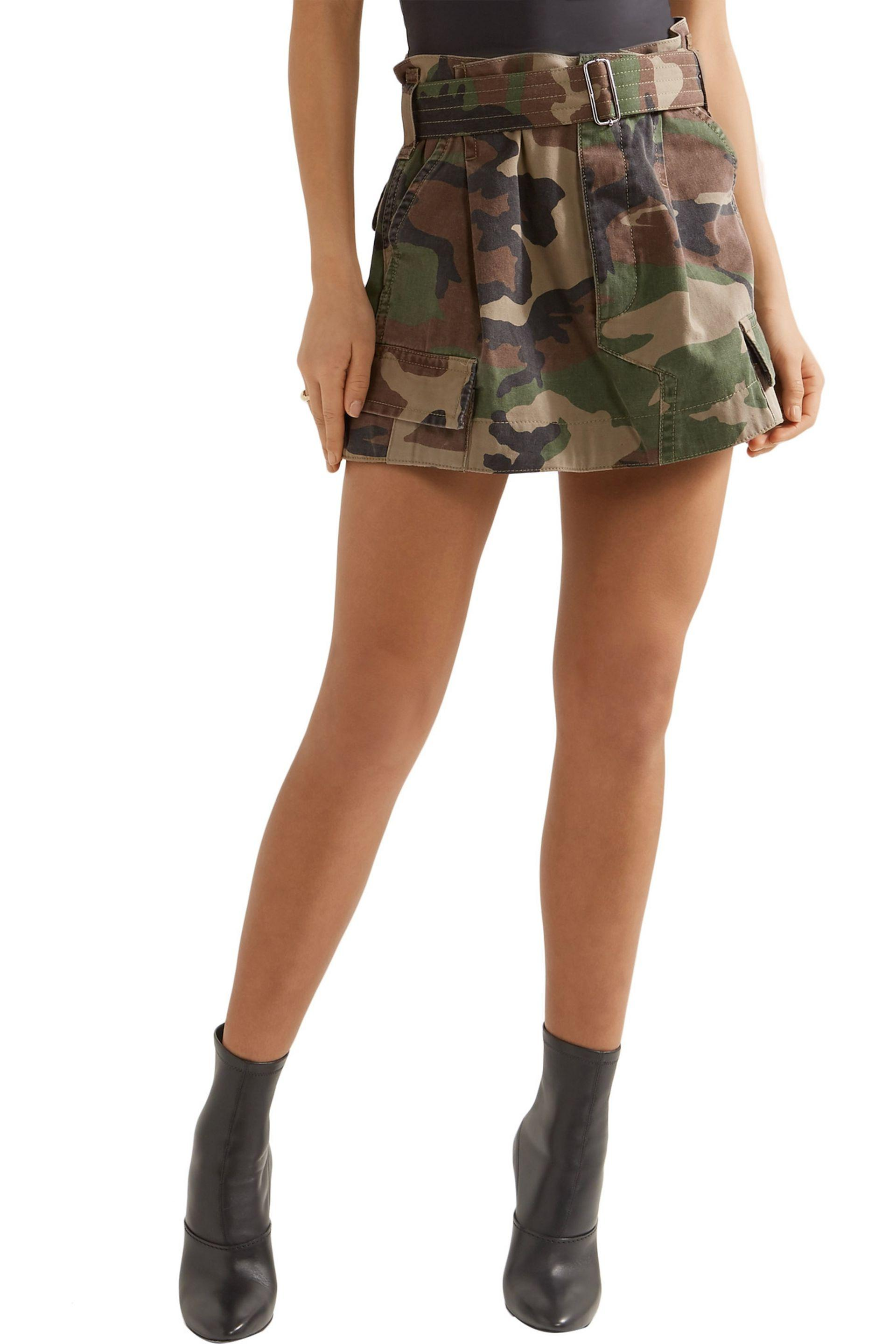 1aa8344768e Lyst - Marc Jacobs Camouflage-print Cotton-twill Mini Skirt in Green