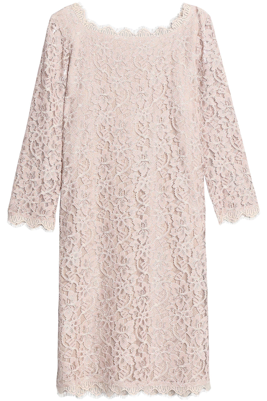 ad49eb37c0a Diane von Furstenberg Corded Lace Mini Dress - Lyst