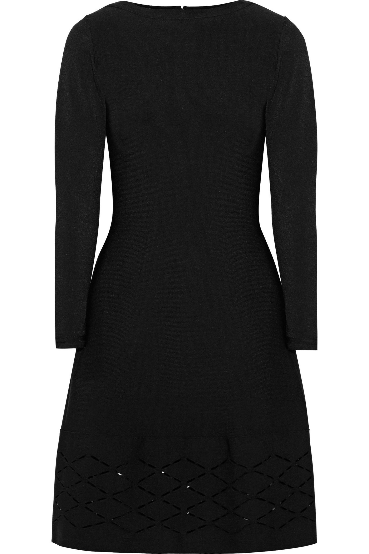 Lela Rose Woman Laser-cut Stretch-knit Dress Black Size M Lela Rose s2xjlIQqJZ