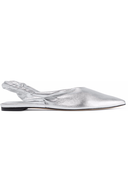 f04afe125b0 Sigerson Morrison. Women s Woman Sham Metallic Leather Slingback Point-toe  Flats Silver