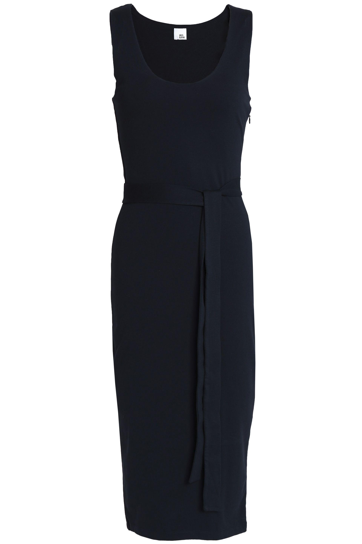 Iris & Ink Woman Lynden Silk Midi Dress Midnight Blue Size 4 IRIS & INK Amazon Cheap Price I51niFV