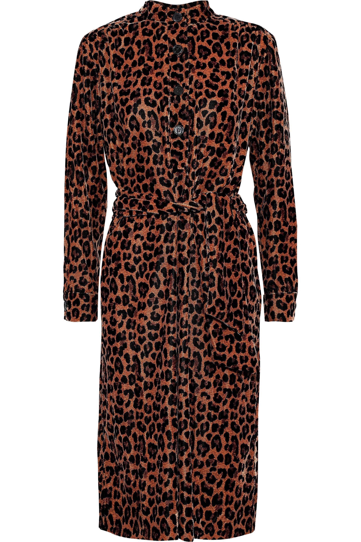 Lyst - Antik Batik Woman Gart Leopard-print Velvet Shirt Dress ... 82d0ae6f4
