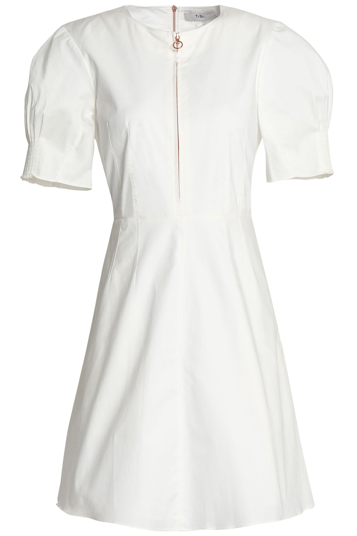 Tibi Woman Stretch Cotton-twill Mini Dress Ivory Size 10 Tibi Classic Online Clearance Footaction Footlocker Finishline Sale Online HfvFuoM0