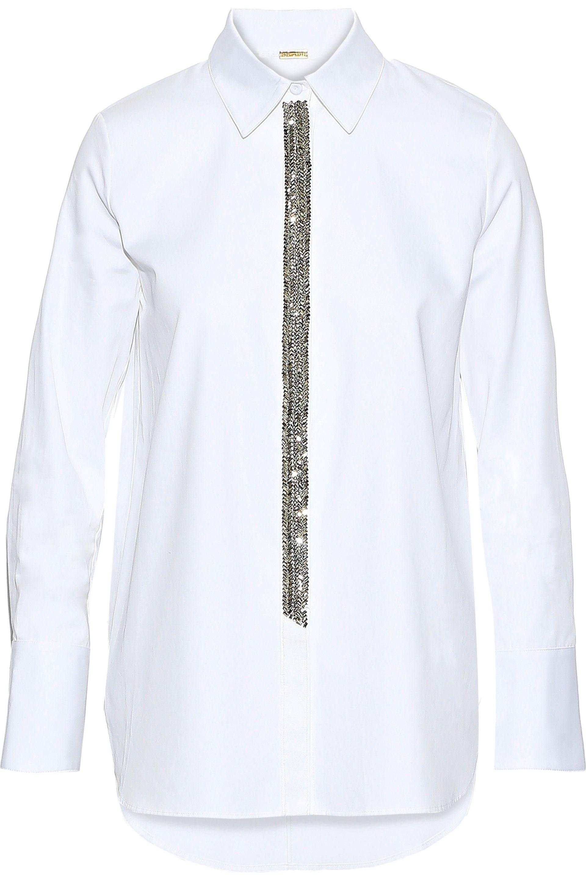Free Shipping Huge Surprise Outlet 2018 Unisex Adam Lippes crystal embellished hem T-shirt Clearance Looking For Cheap Sale Footlocker Finishline For Cheap WaY8wcA24X