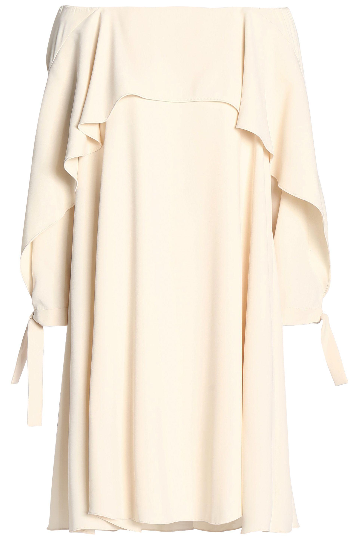 Halston Heritage Woman Off-the-shoulder Gathered Sateen Dress Merlot Size XL Halston Heritage oq3DHok