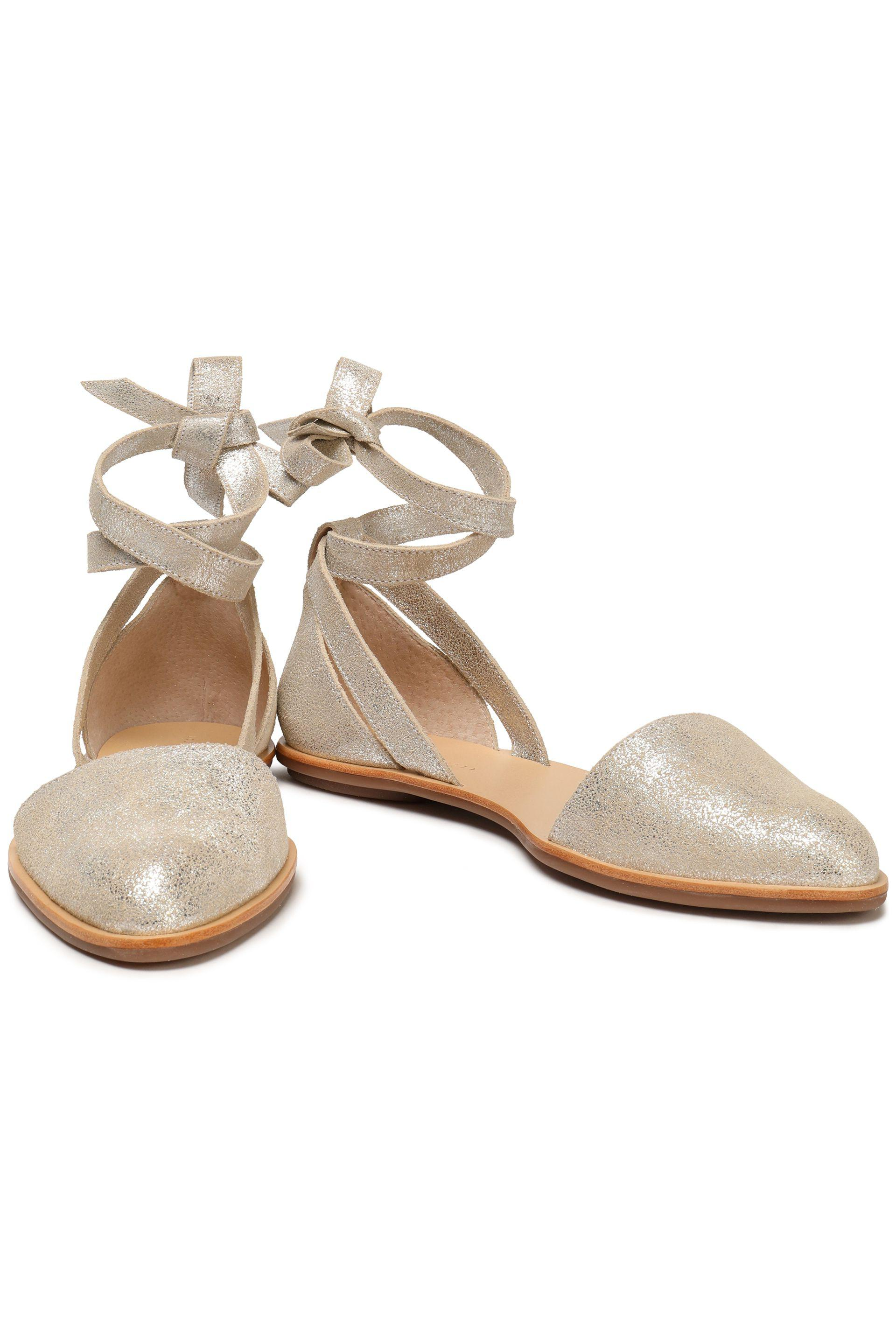Clearance Authentic Loeffler Randall Woman Dina Lace-up Metallic Suede Point-toe Flats Size 7 Outlet Cheap Authentic Buy Cheap Official Site Huge Surprise Sale Online Visit New 2f0MH8i0v