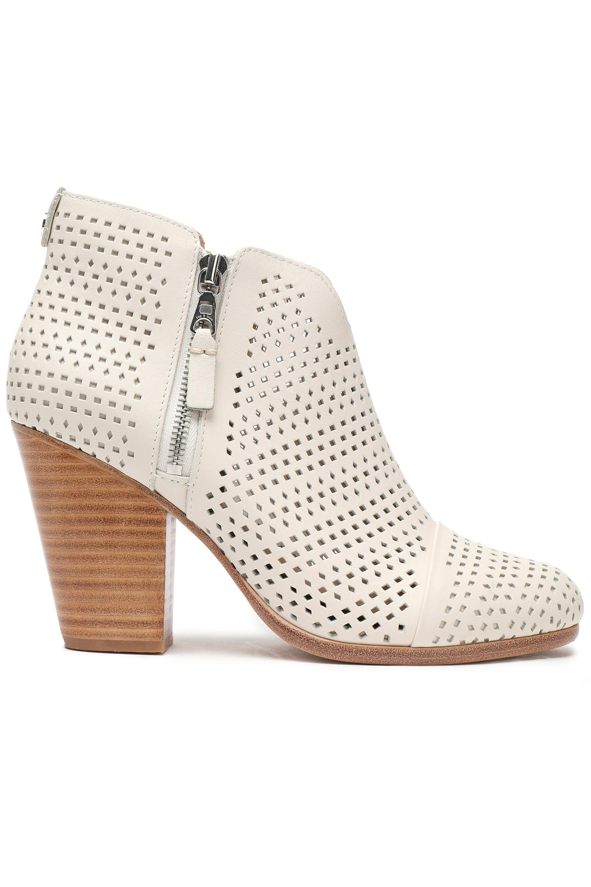 discount visa payment Rag & Bone Leather Laser Cut Ankle Boots discount new arrival eHLZeS0Rs
