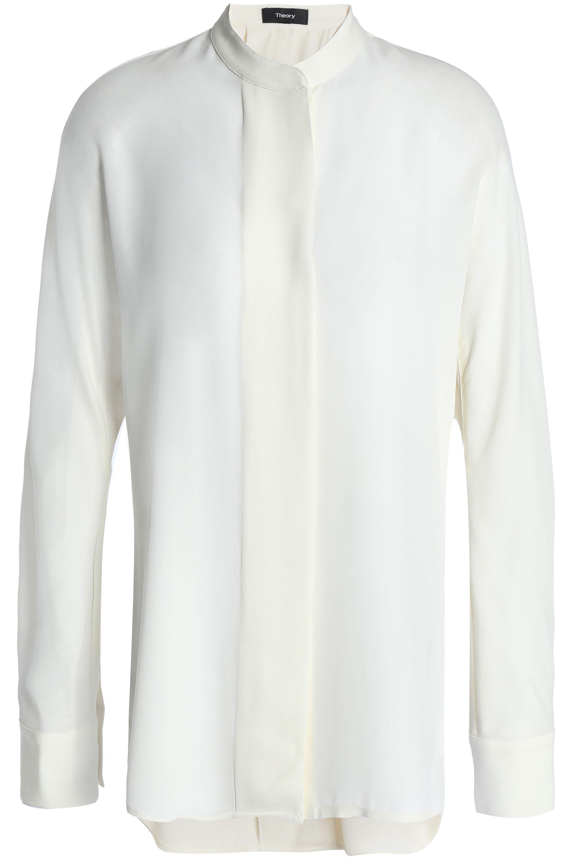 3f73212f83be7d Theory - White Silk Crepe De Chine Shirt - Lyst. View fullscreen