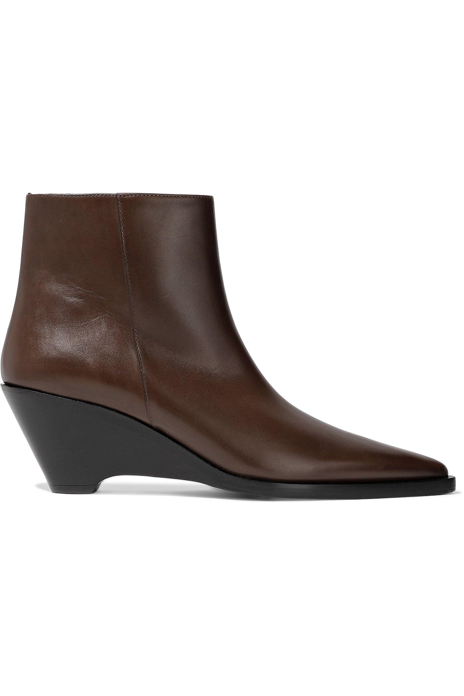 e9d6bb59efff Lyst - Acne Studios Woman Cony Leather Ankle Boots Chocolate in Brown