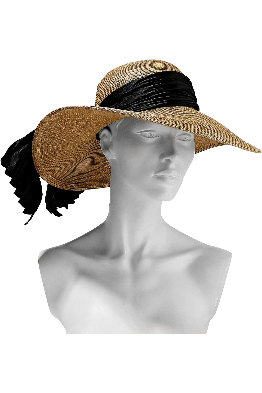 222fcbf17d71f Eugenia Kim - Multicolor Woman Honey Satin-trimmed Straw Sunhat Camel -  Lyst. View fullscreen