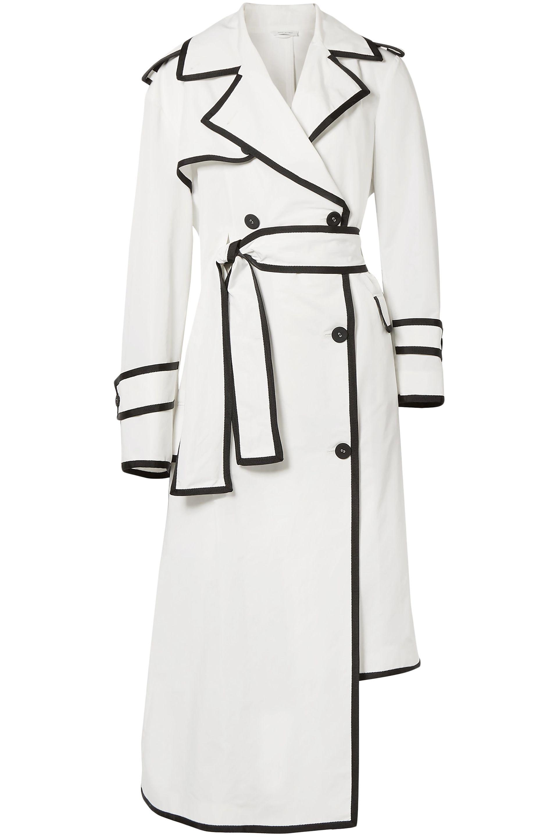 Woman coat shell breasted asymmetric double browne white trench womens thom 4wyrq8en