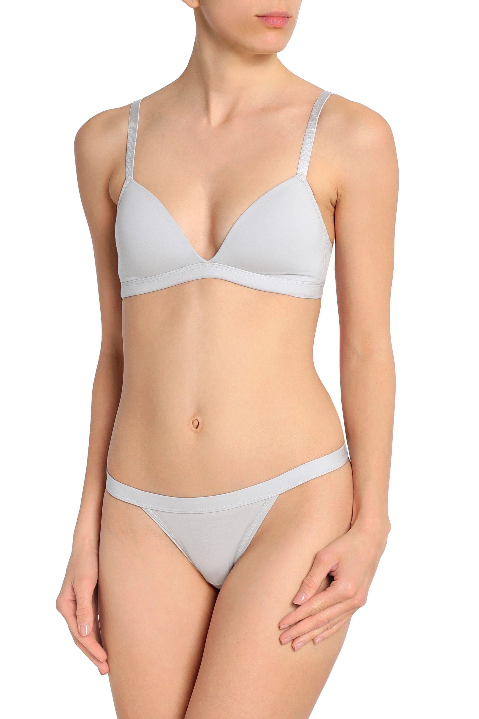 Collections Bodas Woman Stretch Pima Cotton-jersey Low-rise Briefs Light Gray Size M Bodas View Cheap Price Best Store To Get Cheap Price Discount Clearance Cheap Recommend vQblrCsZr