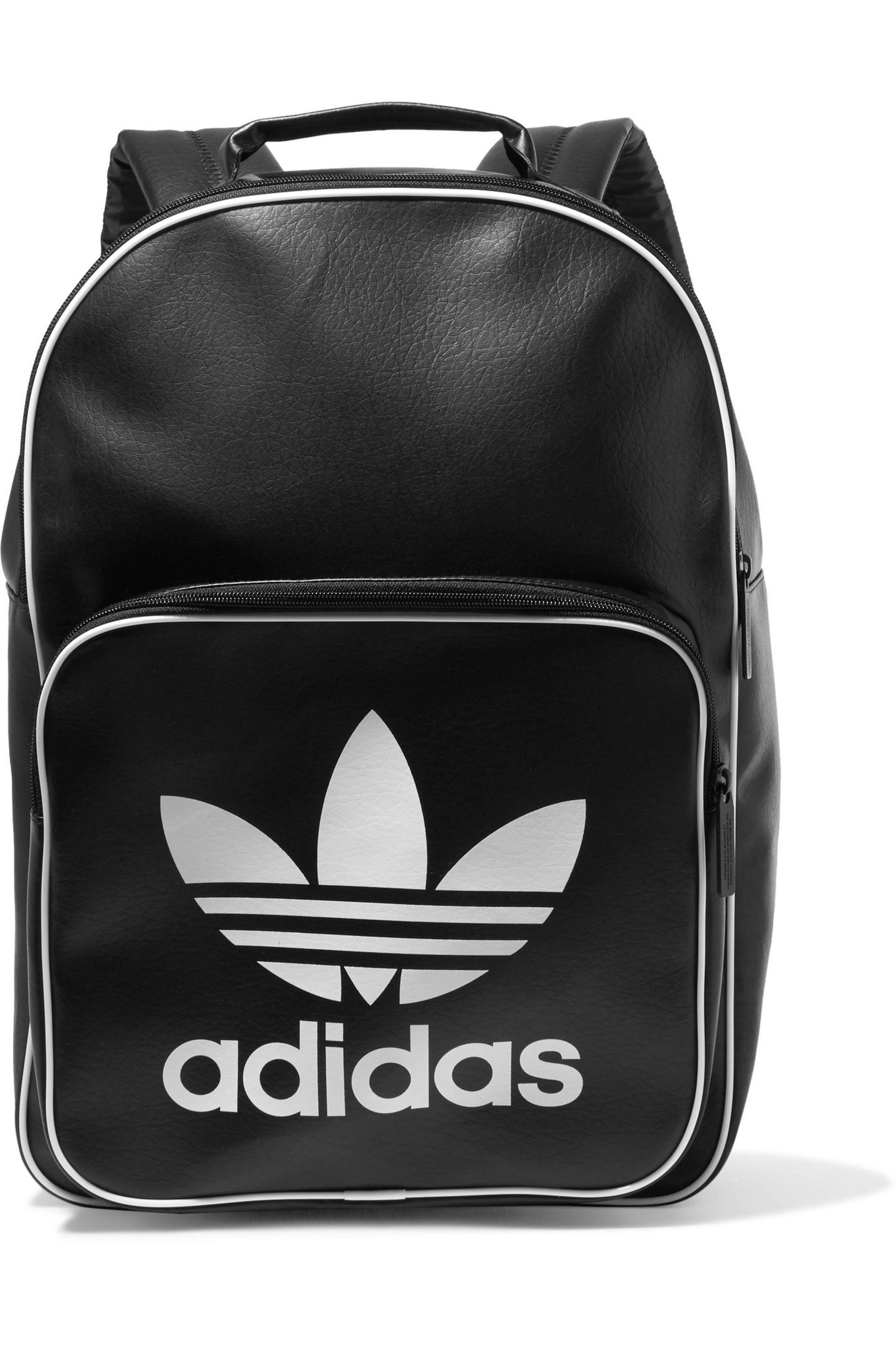 214ea9995d6c adidas Originals Faux Leather Backpack in Black - Lyst