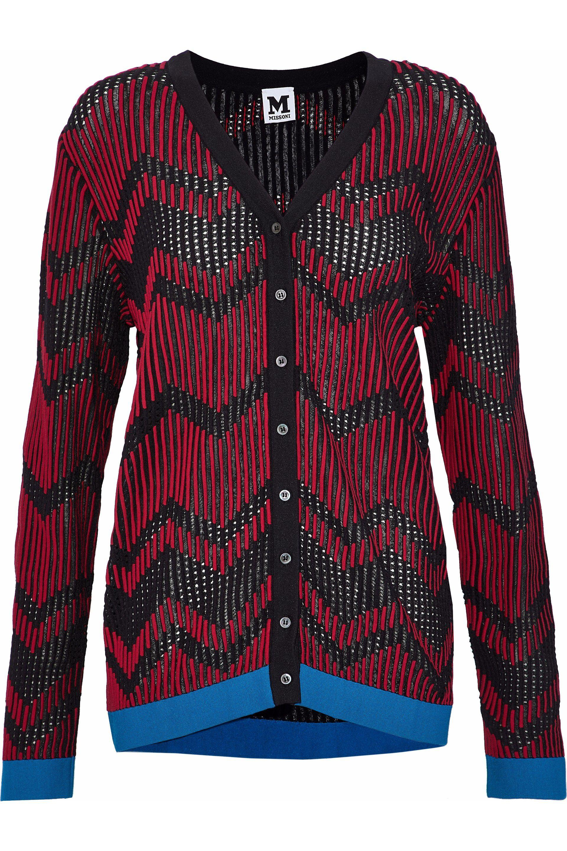 73e001febc M Missoni. Women s Woman Jacquard-knit Cardigan Multicolor