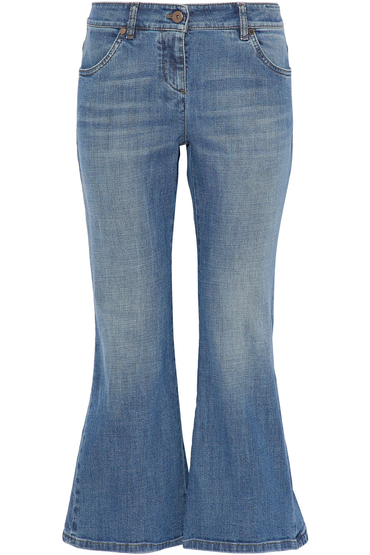 83b2045f239 Brunello Cucinelli Faded Low-rise Kick-flare Jeans in Blue - Lyst