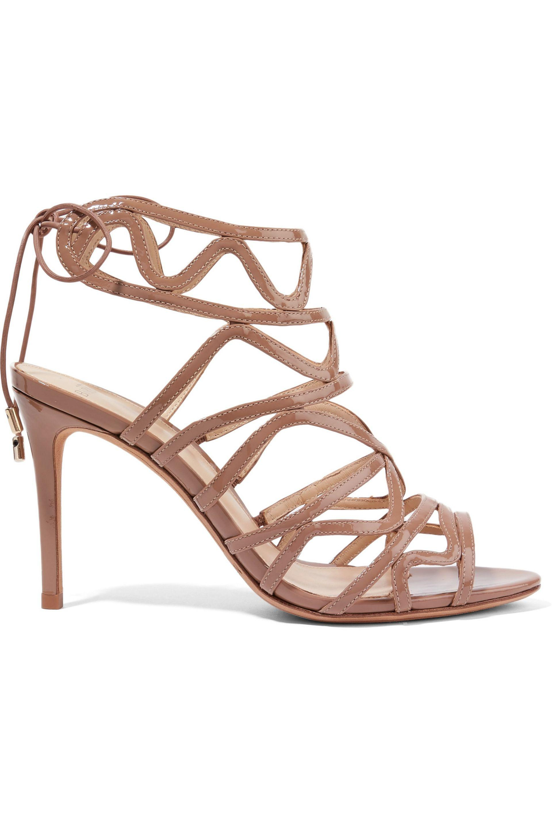 where can i order cheap price free shipping Alexandre Birman Patent Leather Laser-Cut Sandals discount amazing price cheap with paypal nicekicks cheap online B5CB7s8Z