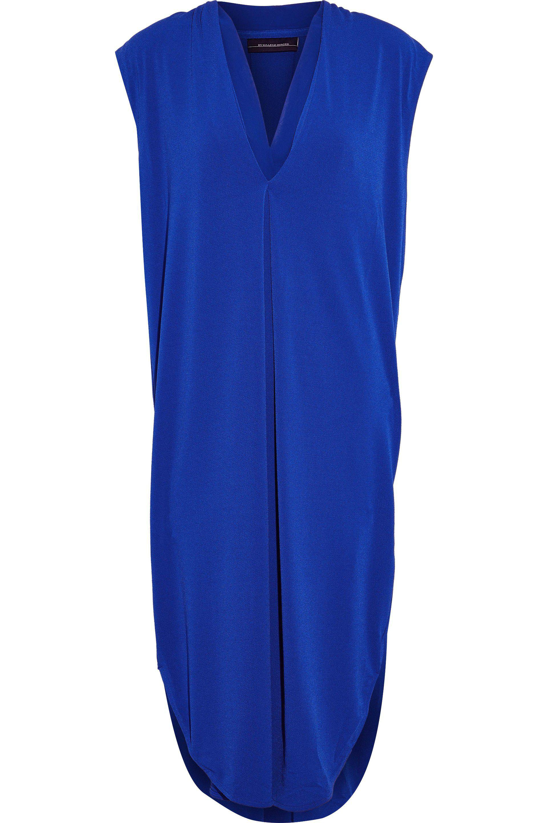 By Malene Birger Woman Knotted Crepe Dress Royal Blue Size XL By Malene Birger Clearance Visit New Free Shipping Fashion Style Cheapest Price Online Clearance Shop For Latest Collections wwwADPt