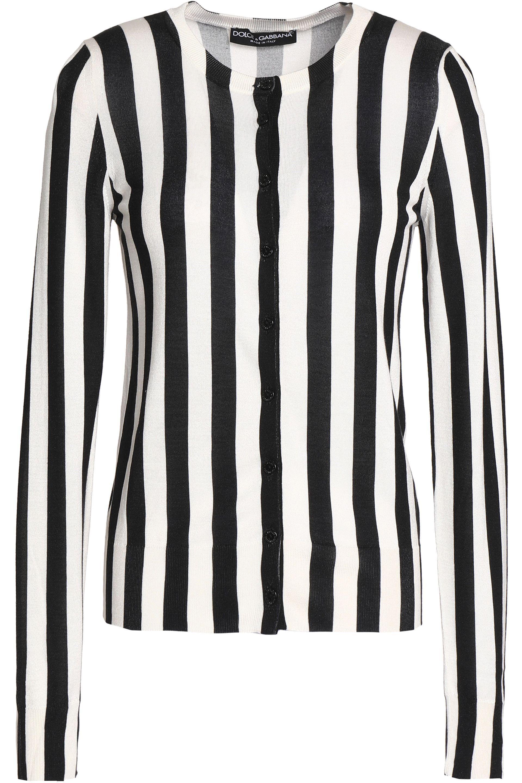 ed4c790d53 Lyst - Dolce   Gabbana Striped Silk Cardigan