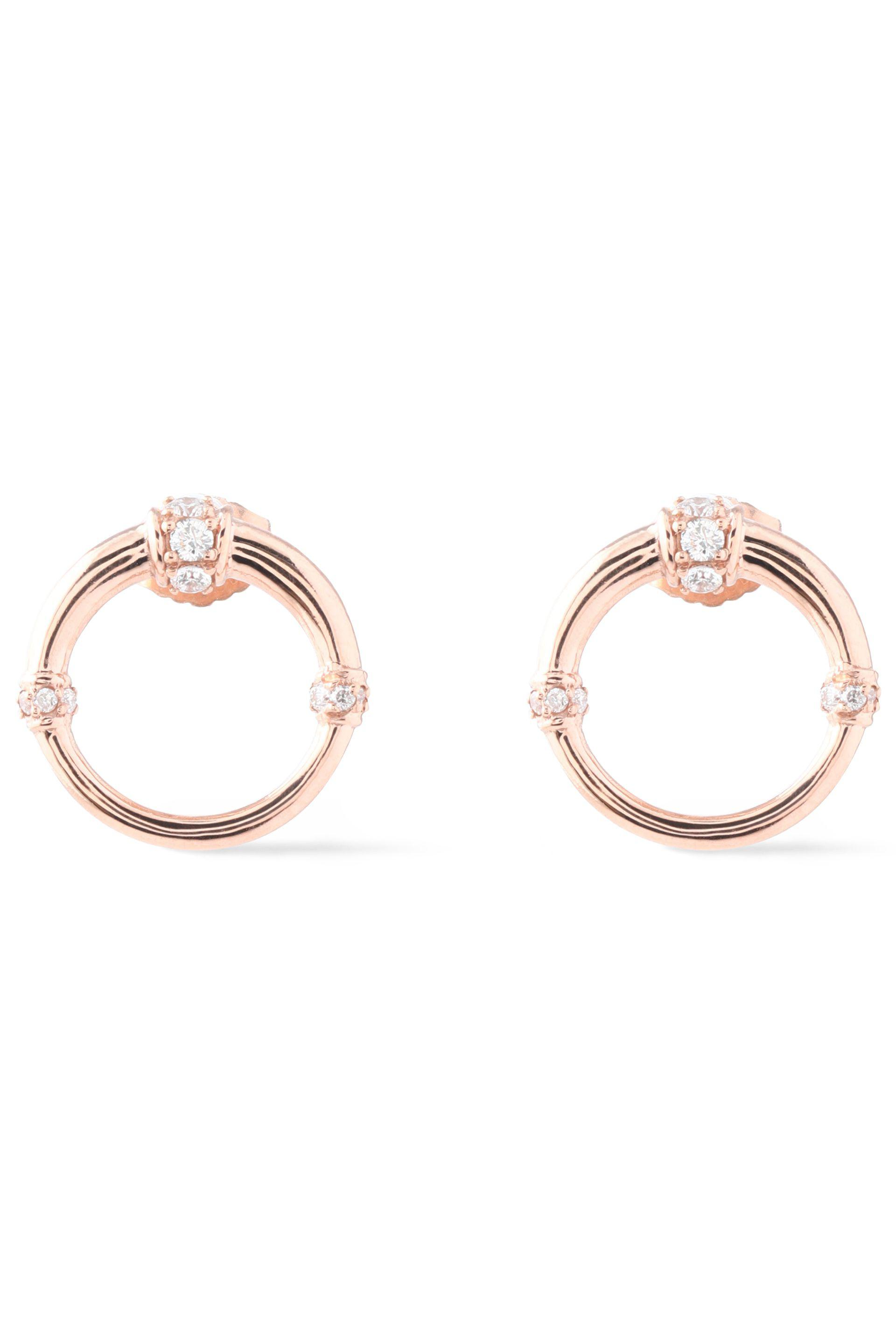 Carbon & Hyde Carbon & Hyde Woman Dharma 14-karat Rose Gold Diamond Earrings Rose Gold Size AwE9qm4