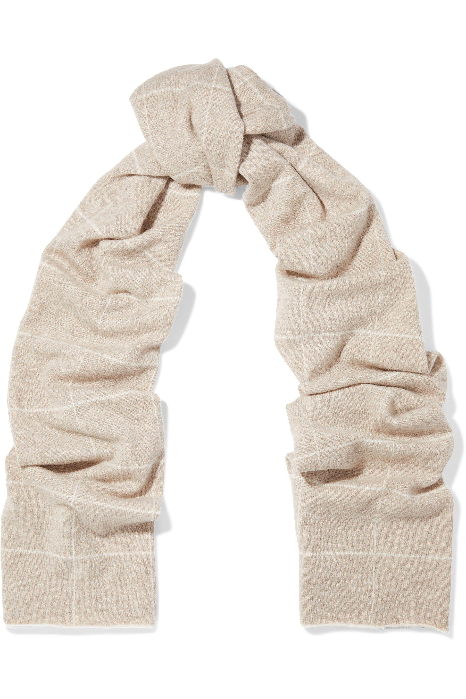 5fc7c0e2534a6 Lyst - Madeleine Thompson Woman Checked Wool And Cashmere-blend ...
