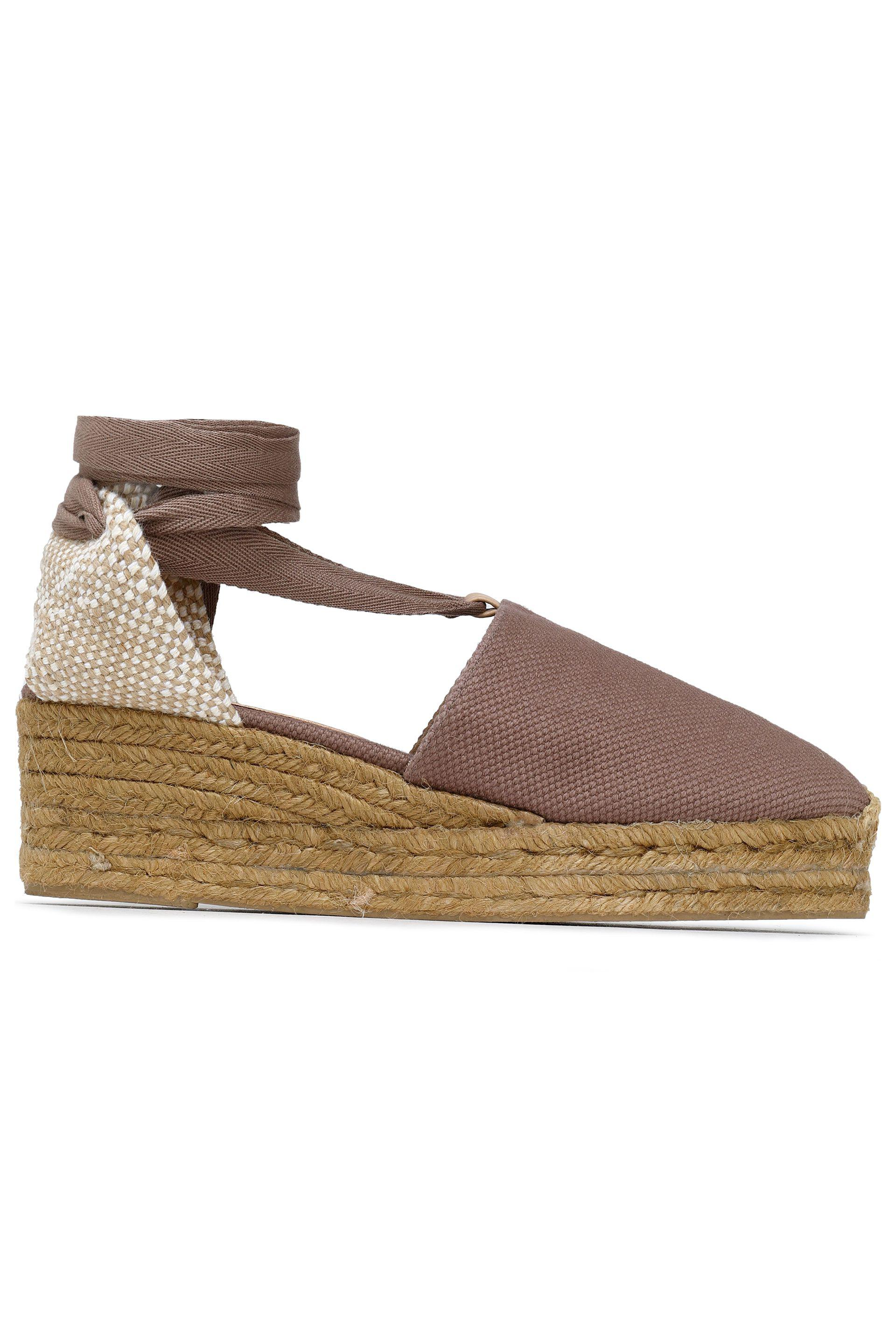 149c4bc6ae Castaner Campina Basketweave And Canvas Wedge Espadrilles in Brown ...