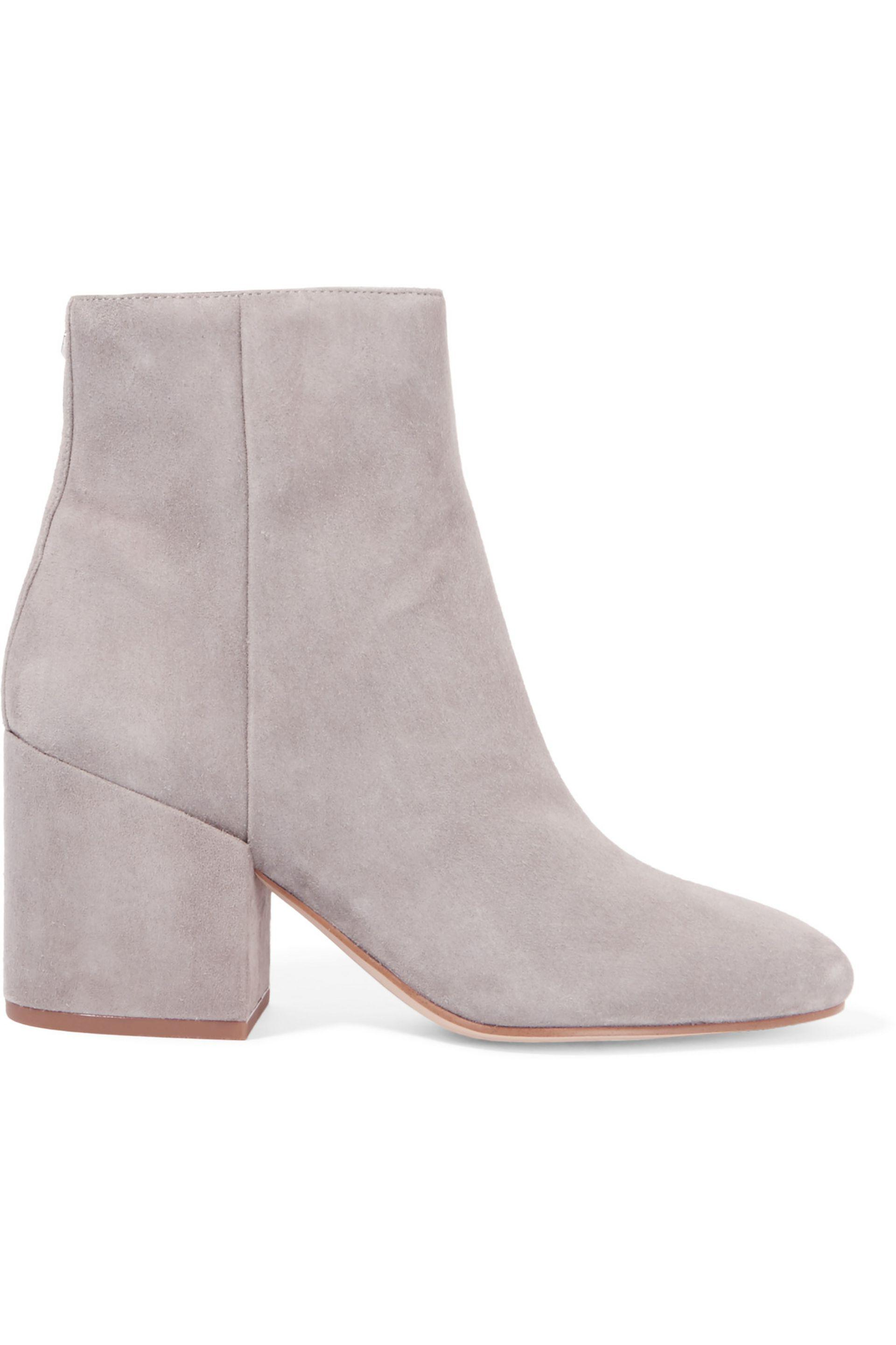 ae91f3adfda2a6 Lyst - Sam Edelman Taye Suede Ankle Boots in Gray