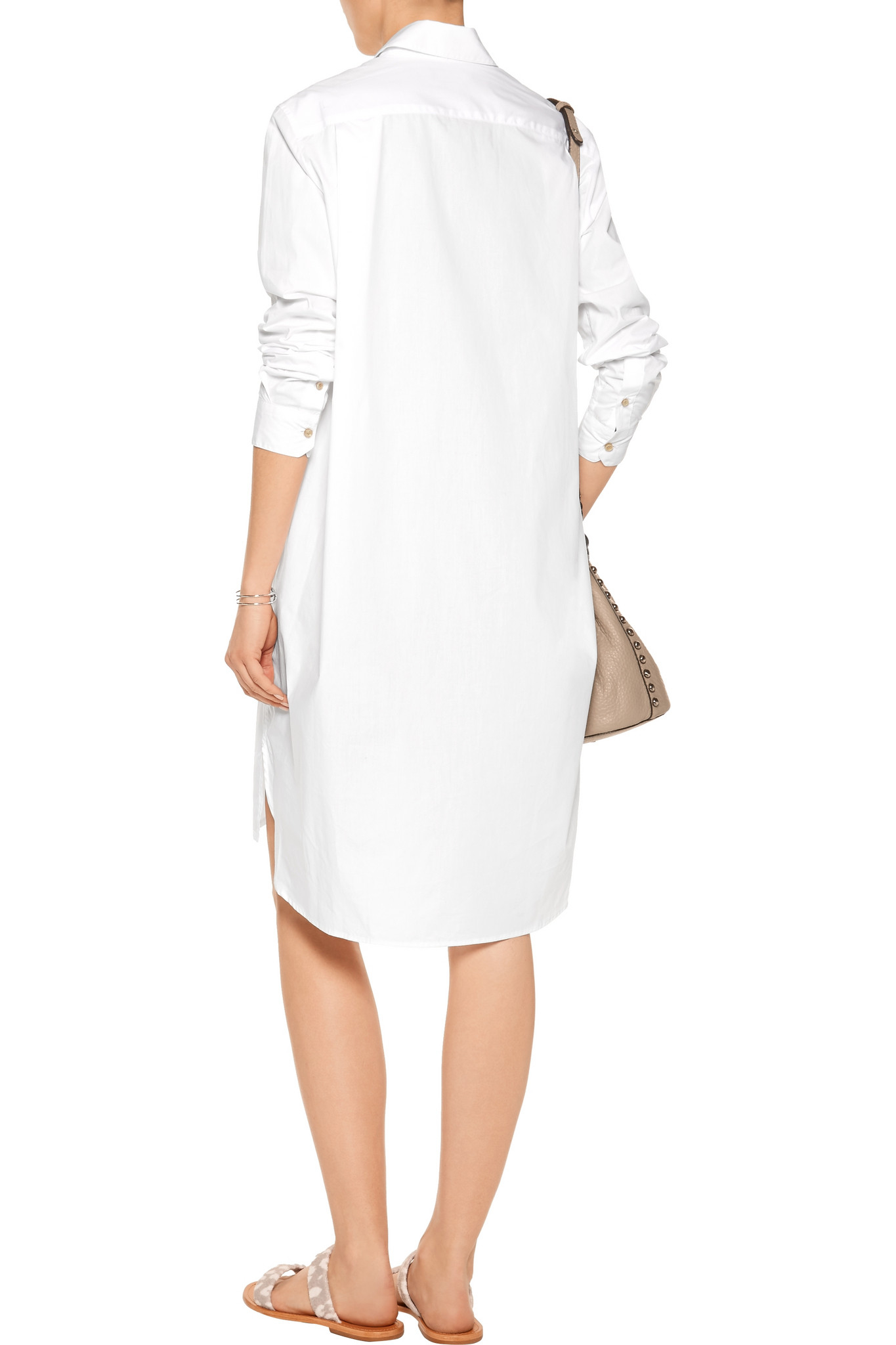 Isabel Marant Wave Cotton Poplin Shirt Dress In White Lyst