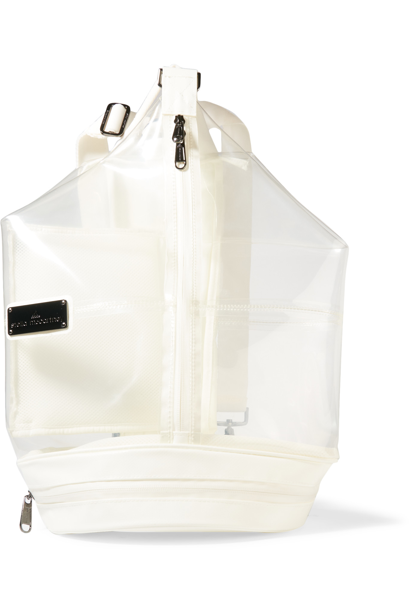 f0f5c0a288 Adidas By Stella Mccartney Pvc And Shell Backpack in White - Lyst