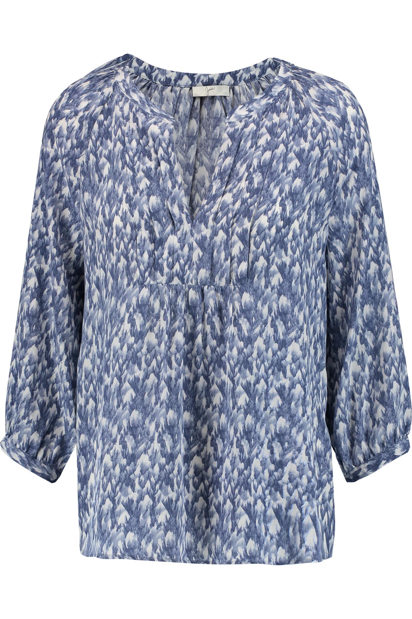 Joie Blue Silk Blouse 33